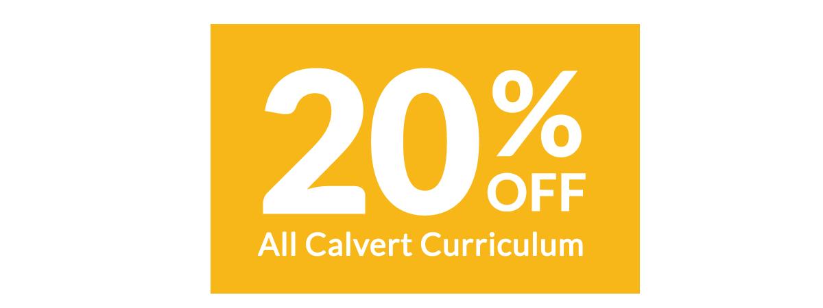 Save 20% on Calvert Curriculum