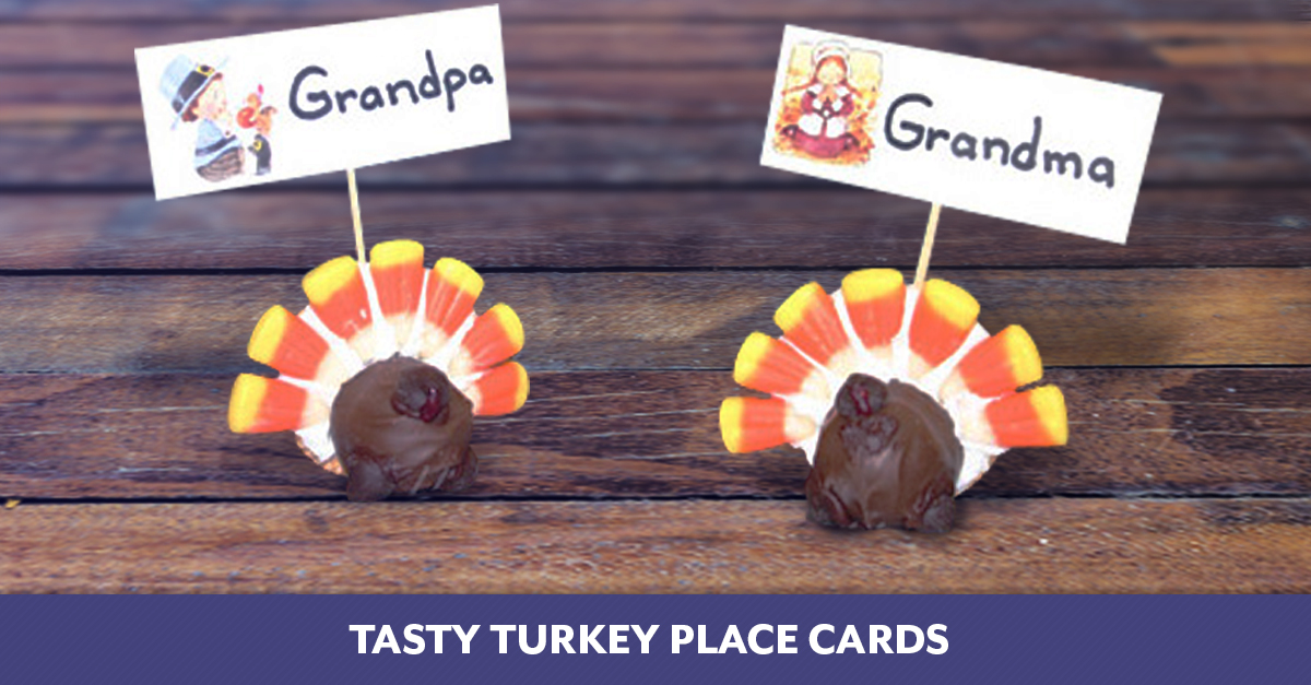 Tasty Turkey Place Cards