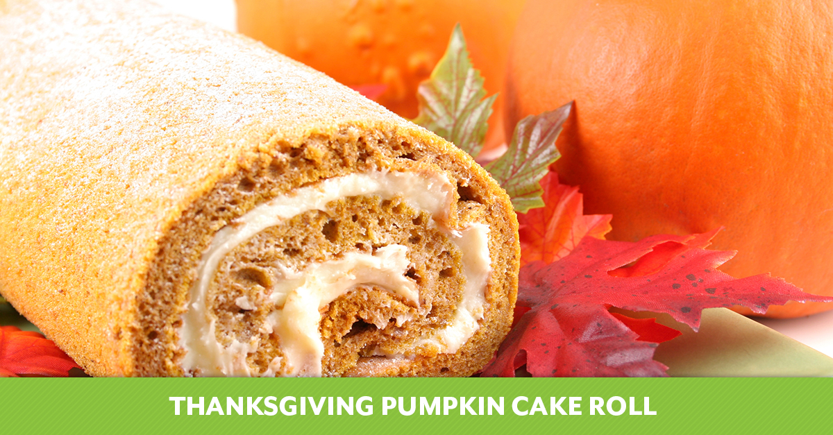 Thanksgiving Pumpkin Cake Roll
