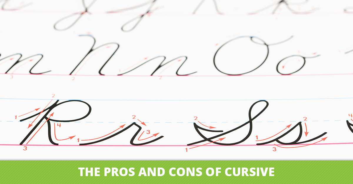 aop homeschooling the pros and cons of cursive the pros and cons of cursive