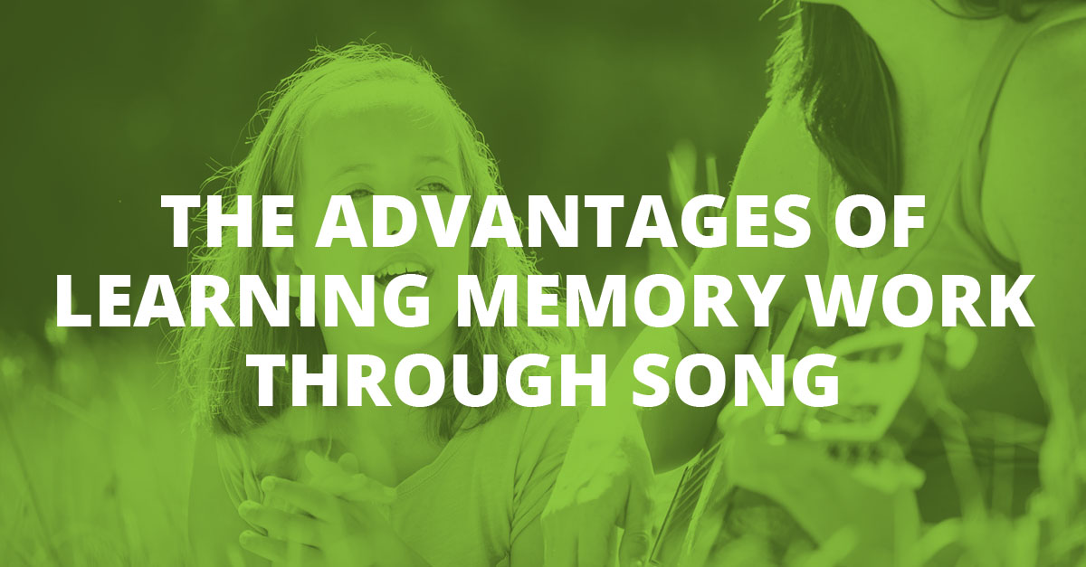 The Advantages of Learning Memory Work through Song