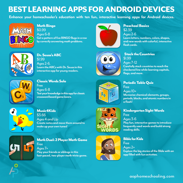 10 Engaging Android Apps For Homeschool Students Aop Homeschooling
