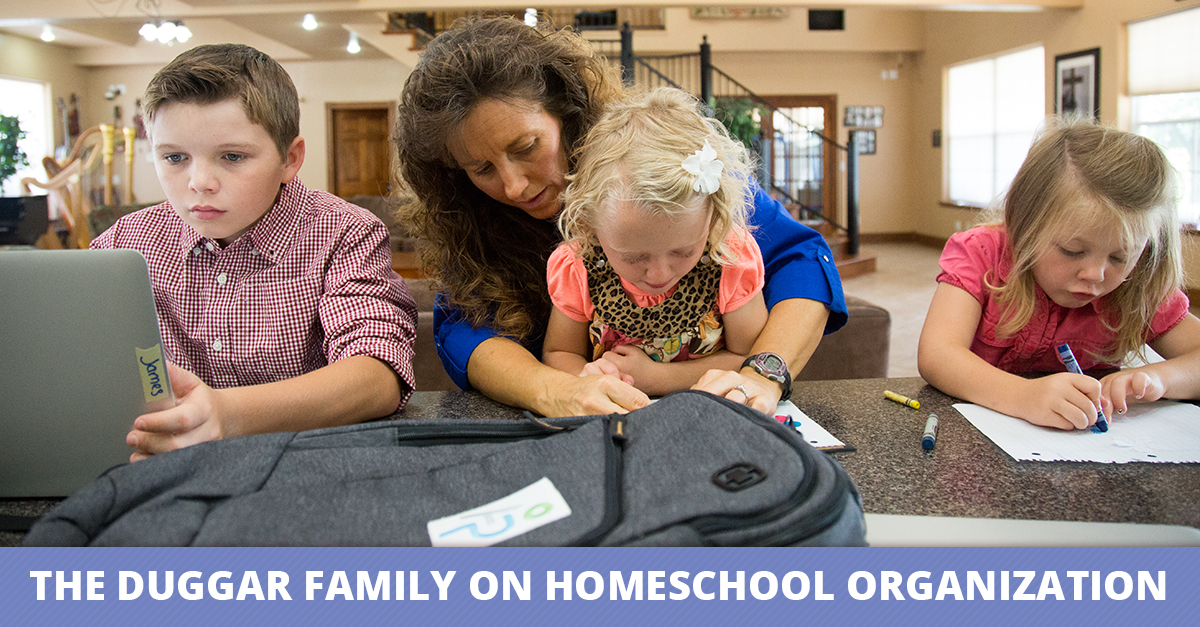 The Duggar Family on Homeschool Organization
