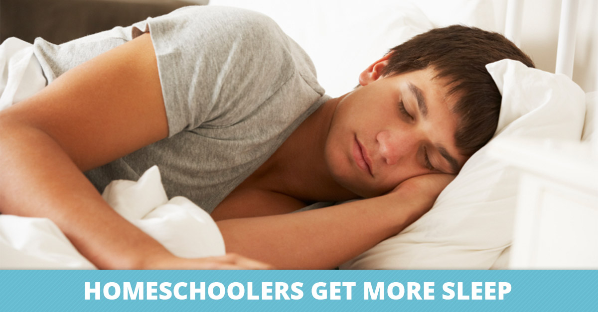 Homeschoolers Get More Sleep