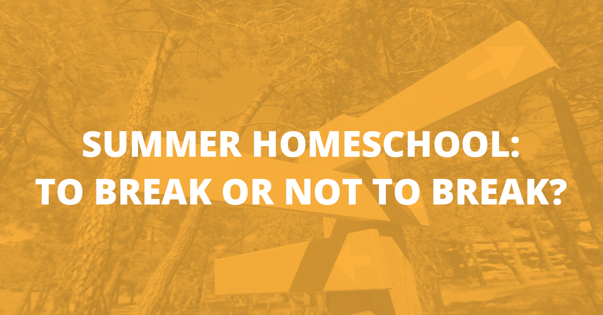 Summer Homeschool: To Break or Not to Break