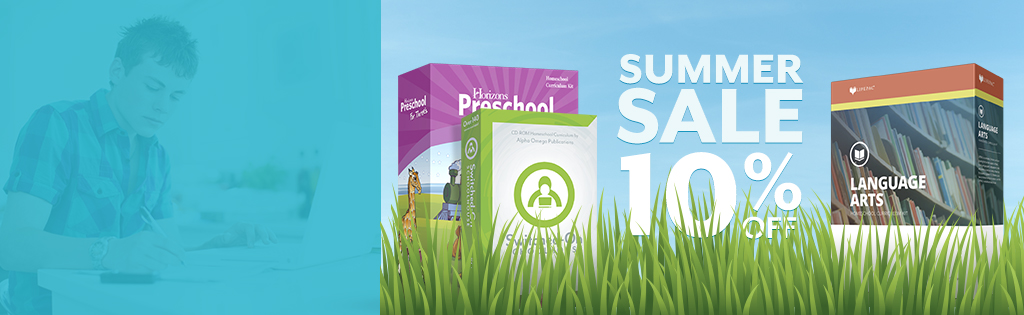 Take 10% off your homeschool curriculum order!