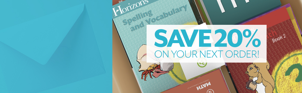 Save 20% when you join our mailing list!