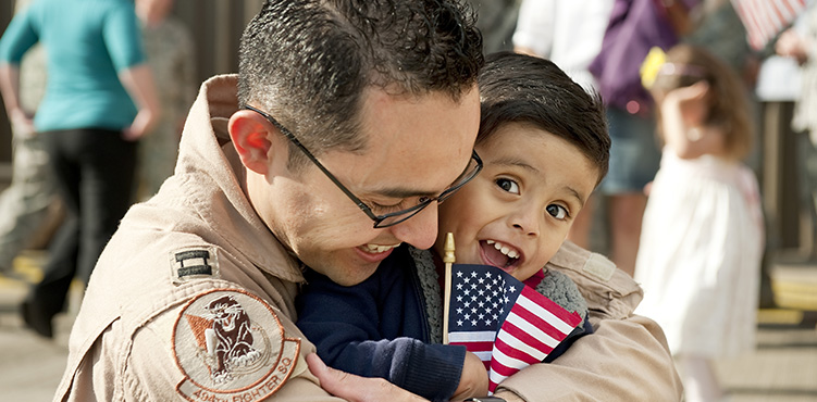 Father in Military Reunited with Son
