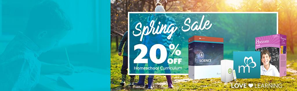 Take 20% off in April!
