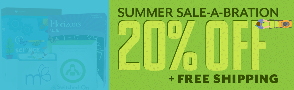 Take 20% off your homeschool curriculum order!